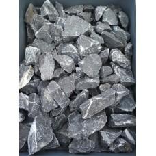 Чёрная мраморная крошка 40-70 мм. Камень декоративный ландшафтный природный натуральный.